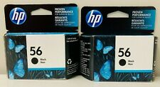 New Genuine HP 56 Black 2PK Ink Cartridges Bag Deskjet 450 Deskjet 450cbi
