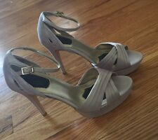 New! rsvp Women's Open Toe High Heels - 8 Silver Champagne