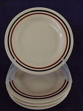 """New listing Oxford 5840 Brazil Luncheon Plate 1 of 5 available 9-1/4"""" Brown Bands"""