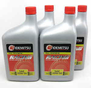 Idemitsu 20W-50 Oil for Mazda Rotary Engines - 4 Quarts - RX7, RX8,13B ,12A, 20B