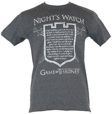 Game of Thrones Mens T-Shirt  - The Night's Watch Oath in Shield Image