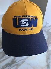 United Steelworkers USW Hat Local 1999 Union Made in USA Cap