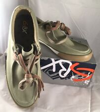 GBX Canvas Men's Green Boat Shoes Size 9 M Tie Shoes