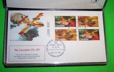 Wings Of Man Over Canada, 1979 Fleetwood,Set Of 8 Fdcs With Special Portfolio