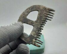 Rare Ancient Antique Unique Find ,Bronze Comb Crest Hair,Viking 9-11 cen.AD #210