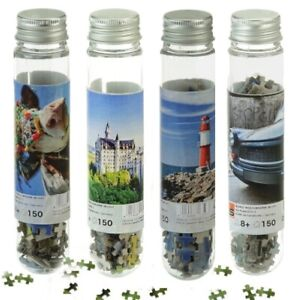 Test Tube Mini Pocket Puzzle, for Adults & Children 4er Pack Fun