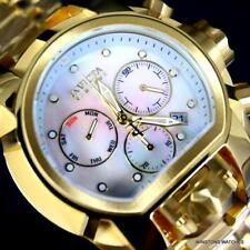Invicta Reserve Bolt Zeus Magnum Gold Plated White MOP Swiss Mvt 52mm Watch New