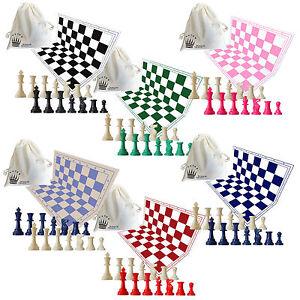 SchachQueen - Schachset - Schachspiel, Brett, Figuren, Aufbewahrungsbeutel