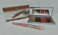 Pur~4 In 1 Skin Perfecting Powders Face Palette & Brush~Medium Tan~NIB + 3 Gifts