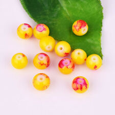 36pcs Glass Yellow/Red Multicolor Spacer Loose Beads DIY Jewelry Crafts