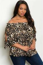 NEW..Stylish Sassy Plus Size Animal Print off The Shoulder Top.Sz16/1XL