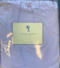 POTTERY BARN KIDS NEW Chambray Percale Twin Bed Skirt Lavender-New In Package