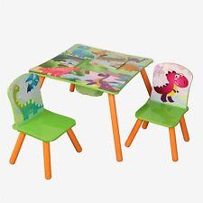 pour enfants en bois dinosaur table et 2 chaises Ensemble enfants salle de jeux