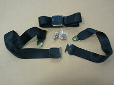 Two Lap seat belts vintage bmw 2002 1600 2002tii e10 front or rear black 2 point