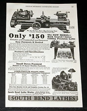 1927 OLD MAGAZINE PRINT AD, SOUTH BEND LATHES, SCREW CUTTING PRECISION, JUNIOR!