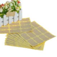 120Pcs DIY Seal Sticker Vintage Blank Kraft Label Stickers For Gift Packaging HG