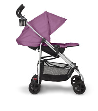 Pink Single Baby Stroller Reversible Reclining Lightweight Folding Child Safety