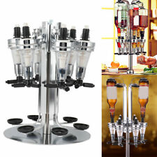 6 Bottle Bar Beverage Liquor Dispenser Alcohol Drink Shot Cabinet Wall Mounted