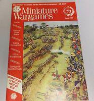 Miniature Wargames Number 73  June 1989 oop SC