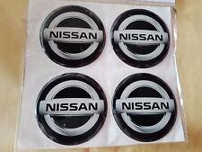 Silikon Aufkleber Sticker 4x 60mm Emblem NISSAN Raddeckel Felgen Radkappen!