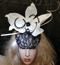 Fascinator hatinator hat races wedding lace - one off design