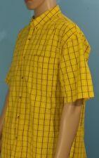 Roper Western Cowboy Yellow Striped Shirt Size L Large (A6)
