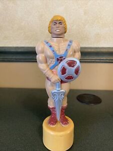 Vintage He-Man Bubble Bath Bottle Soaky Toy Master Of The Universe