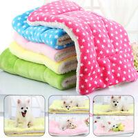 Pet Dog Cat Blanket Thicken Fleece Mat Soft Puppy Kitten Warm Cushion Bed Pads