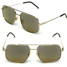 a61613ca34  430 FENDI Men s MIRRORED GOLD METAL PILOT SUNGLASSES