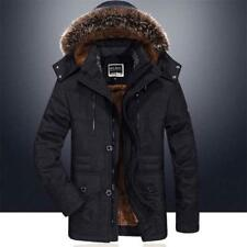 Hot Mens Winter Jacket Hooded Fur Collar Outdoor Thicken Warm Outwear Parka Coat