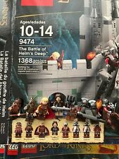 Lego 9474 The Battle Of Helms Deep Lord Of The Rings Hobbit Complete w/box. Fun!