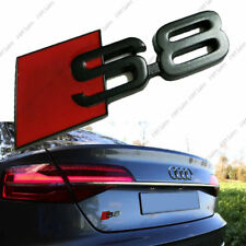 New Audi S8 Rear Black Glossy Badge Logo Wing Boot Sticker Adhesive Emblem