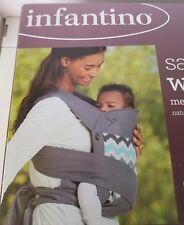 Infantino Sash Wrap & Tie Mei Tai Baby Carrier - Ikat Chevron - Used Twice!