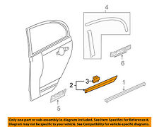 HONDA OEM 07-11 Civic REAR DOOR-Body Side Molding Left 75323SNEA01ZN
