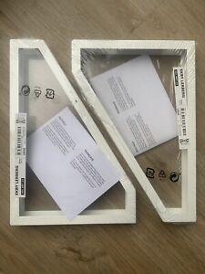 IKEA EKBY LERBURG White metal Shelf brackets x2