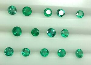 4.14 Ct Natural Zambian Emerald AA+ 4 X 3 MM Round Shape Untreated Loose Gems