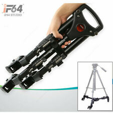 NEW Photography Tripod Dolly for Studio Camera Photo and Video w/ Folding Wheels