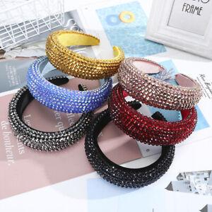 Baroque Embellished Headband Rhinestone Hairband Padded Head Crown Fashion Women