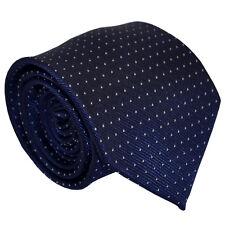 New 148cm Long Silk Blue Pin Dot Men Tie Wedding Office Prom Formal Men Necktie