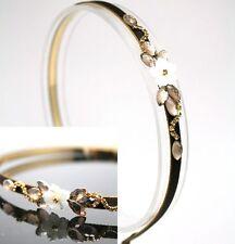 SWAROVSKI CRYSTAL flower jewelred HEADBAND one HAIR ACCESSORIES BRIDAL HB512