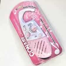 Conair Home Shower Radio Pink Water Resistant Shower Radio Am Fm New