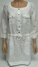 Ladies BC Clothing White 100% Linen Tunic Top / Dress Size 10 BNWT