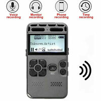 64G Rechargeable LCD Digital Audio Sound Voice Recorder Dictaphone MP3 Player US