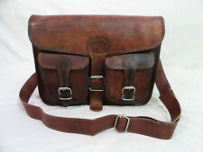 "Leather Messenger Bag 13"" Macbook Pro / Air  Satchel Laptop Crossbody School Bag"