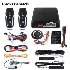 EASYGUARD car alarm system remote engine start push button pke keyless entry