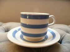 Carrigaline Pottery Blue Stripe Tea Coffee Cup and Saucer Kitchenalia Vintage