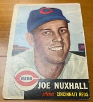 1953 Topps # 105 Joe Nuxhall Baseball Card Cincinnati Reds