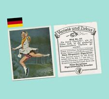 1930s German Cigarette Card - Variety & Circus Series #27 - Charlotte Skater NM