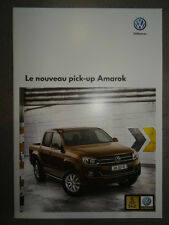 Catalogue Volkswagen Le Nouveau Pick-up Amarok de Juin 2010 12 pages NEUF