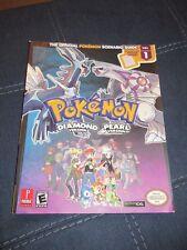 Pokemon Official Scenario Guide Diamond/Pearl Version Nintendo DS Vol 1 w/Poster